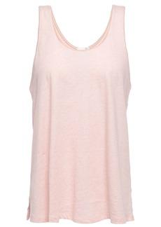 Skin Woman Mélange Pima Cotton-jersey Tank Pastel Pink
