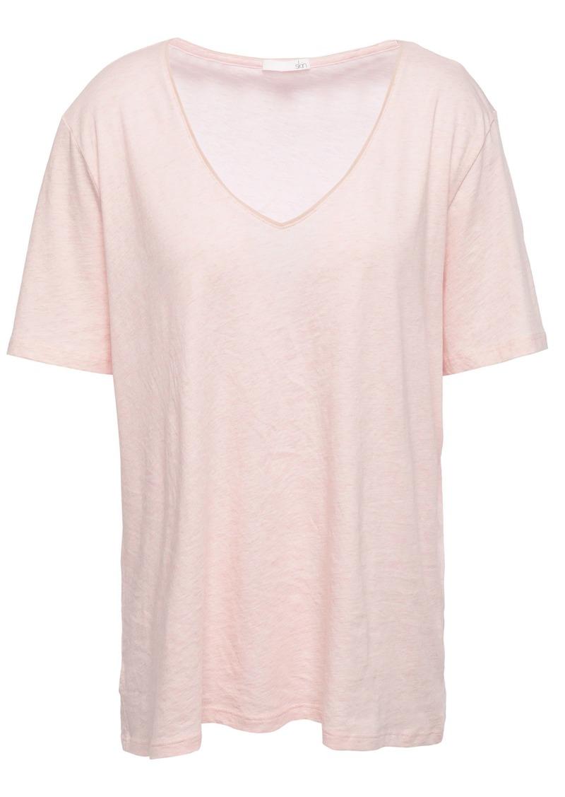 Skin Woman Olma Mélange Pima Cotton-jersey T-shirt Pastel Pink