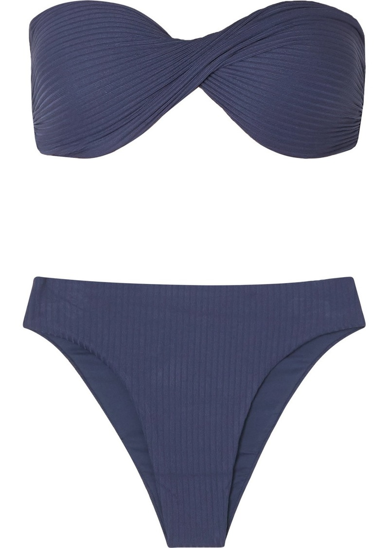 skin The Lindy Ribbed Bandeau Bikini