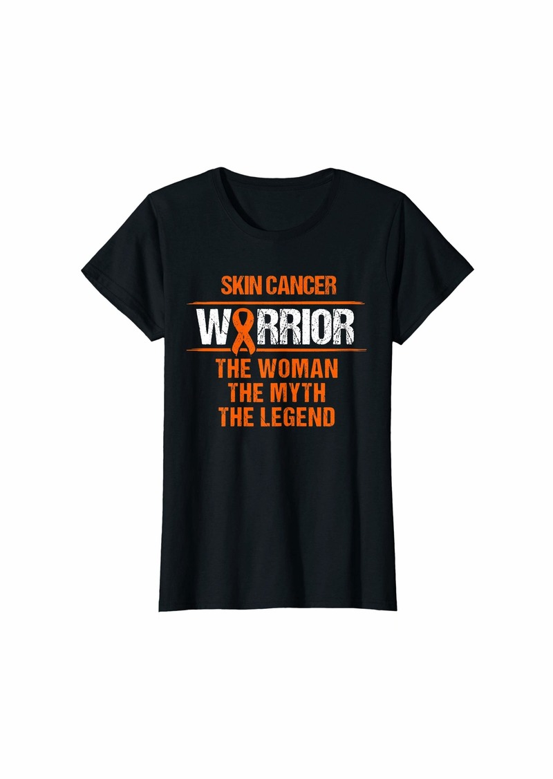 Womens Warrior The Woman The Myth Shirt Skin Cancer Survivor Tshirt