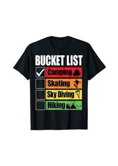 Sky Bucket List Camping Funny T-Shirt