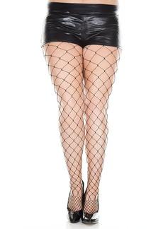 Sky MUSIC LEGS Women's Plus-Size Seamless Fence Net Spandex Pantyhose