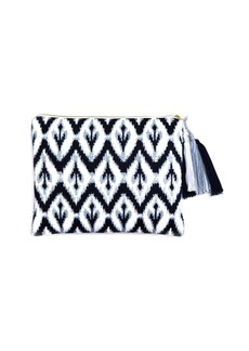 Sky Ikat Embroidered Pouch- 100% Exclusive