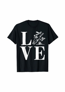 Skydiving Skydiver Love Skydive Parachuting Gift T-Shirt