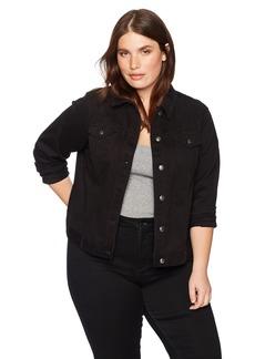 Skye's the Limit Women's Plus Size Cropped Denim Jacket