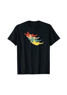 Vintage Skydiving Design for Skydiver Retro Parachute T-Shirt