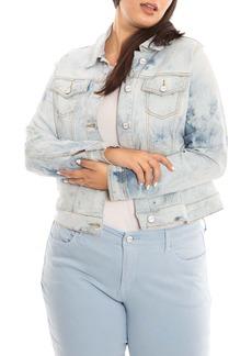 Plus Size Women's Slink Jeans Denim Trucker Jacket