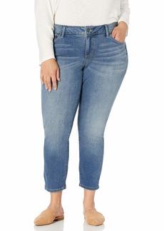 SLINK Jeans Women's Plus Size  Ankle Skinny w