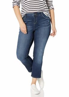 SLINK Jeans Women's Plus-Size  HI-Rise Straight