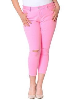 SLINK Jeans Women's Plus Size Neon  Ankle W