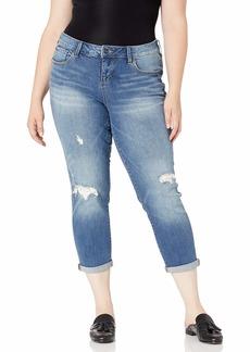 SLINK Jeans Women's Plus Size RENA ROLL Cuff Distressed
