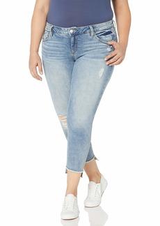 SLINK Jeans Women's Plus Size Side Vent Ankle  w