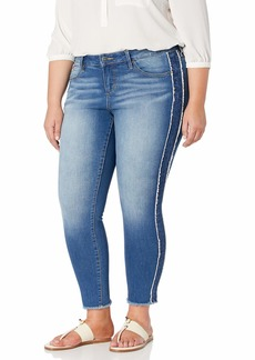 SLINK Jeans Women's Plus Size Tux Denim Ankle