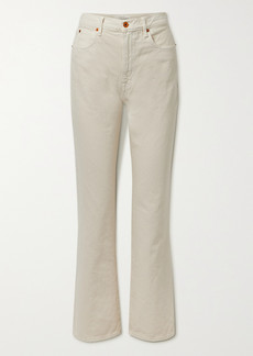 SLVRLAKE Net Sustain London Distressed High-rise Straight-leg Jeans