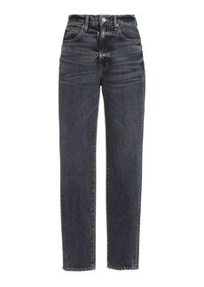SLVRLAKE - Women's Beatnik High-Rise Slim-Leg Jeans - Grey - Moda Operandi