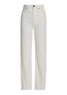 SLVRLAKE - Women's Beatnik Stretch High-Rise Straight-Leg Jeans   - White - Moda Operandi