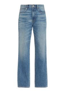 SLVRLAKE - Women's London Rigid High-Rise Straight-Leg Jeans - Dark Wash - Moda Operandi