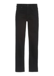 SLVRLAKE - Women's Lou Lou Straight-Leg Jeans - Black - Moda Operandi
