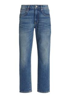 SLVRLAKE - Women's Lou Lou Stretch Mid-Rise Slim-Leg Jeans - Medium Wash - Moda Operandi