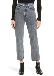 SLVRLAKE London High Waist Crop Straight Leg Jeans (Tennessee Moon)