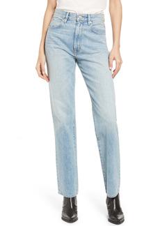 SLVRLAKE London High Waist Straight Leg Jeans (New Mexico)