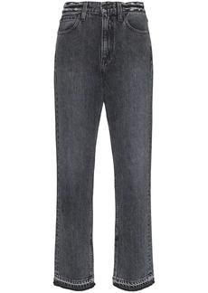 SLVRLAKE straight leg frayed hem jeans