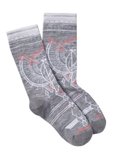 Smartwool Mountain Magpie Printed Crew Socks