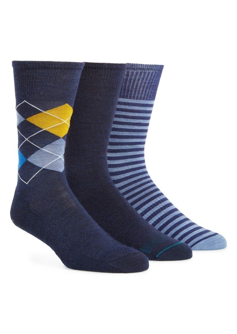 Smartwool 3-Pack Merino Wool Blend Crew Socks