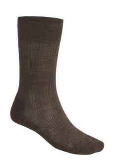 Nailhead Grid Casual Socks - Merino Wool, Crew (For Men)