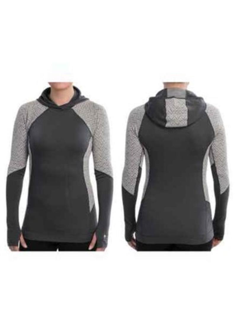 SmartWool NTS Midweight Pattern Base Layer Hoodie Shirt - UPF 50+, Merino Wool, Long Sleeve (For Women)