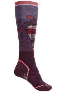 SmartWool PhD Medium Pattern Ski Socks - Merino Wool, Over the Calf (For Women)