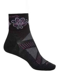 SmartWool PhD V2 Ultralight Mini Cycling Socks - Merino Wool, Quarter Crew (For Women)