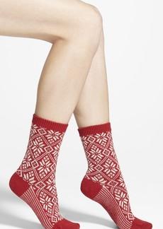 Smartwool Snowflake Pattern Crew Socks