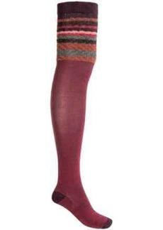 SmartWool Striped Chevron Socks - Merino Wool, Over-the-Knee (For Women)