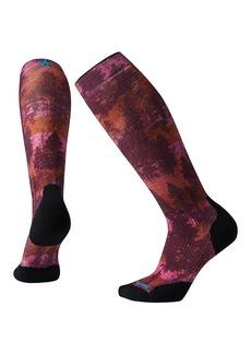 Smartwool Women's PhD Snow Light Elite Print Over The Calf Sock