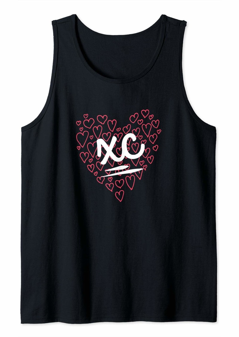 Smith Girls Women Cross Country Design XC with Hearts Tank Top