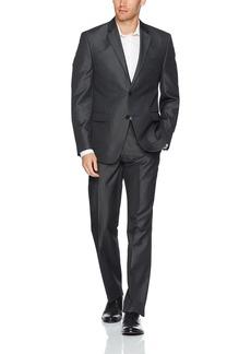 Smith & Davenport Men's Slim Fit Stretch Suit W/Hemmed Pant   Regular