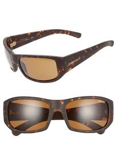 Smith Bauhaus 59mm ChromaPop™ Polarized Wraparound Sunglasses