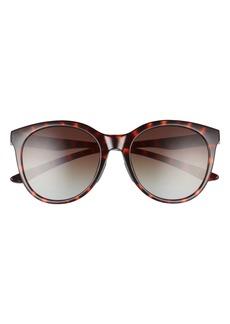Smith Bayside 55mm Polarized Round Sunglasses