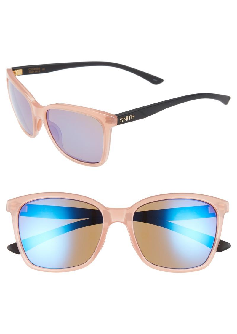 14b222e8f9 Smith Smith Colette 55mm Matte Mirrored Lens Sunglasses
