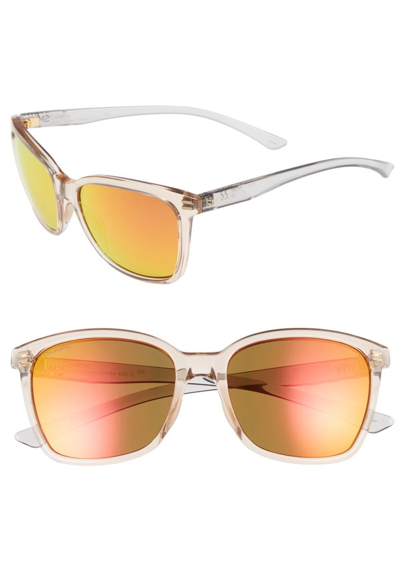 a6ec7f8b31 Smith Colette Chromapop 55mm Polarized Mirrored Lens Sunglasses