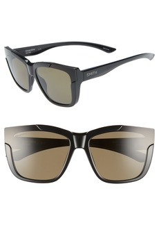 Smith Dreamline 62mm Oversize Butterfly ChromaPop™ Polarized Sunglasses