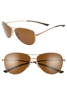 Smith Langley 60mm ChromaPop™ Polarized Aviator Sunglasses