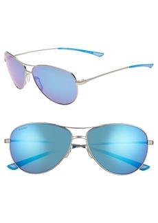 Smith Langley 60mm ChromaPop™ Polarized Aviator Sunglasses