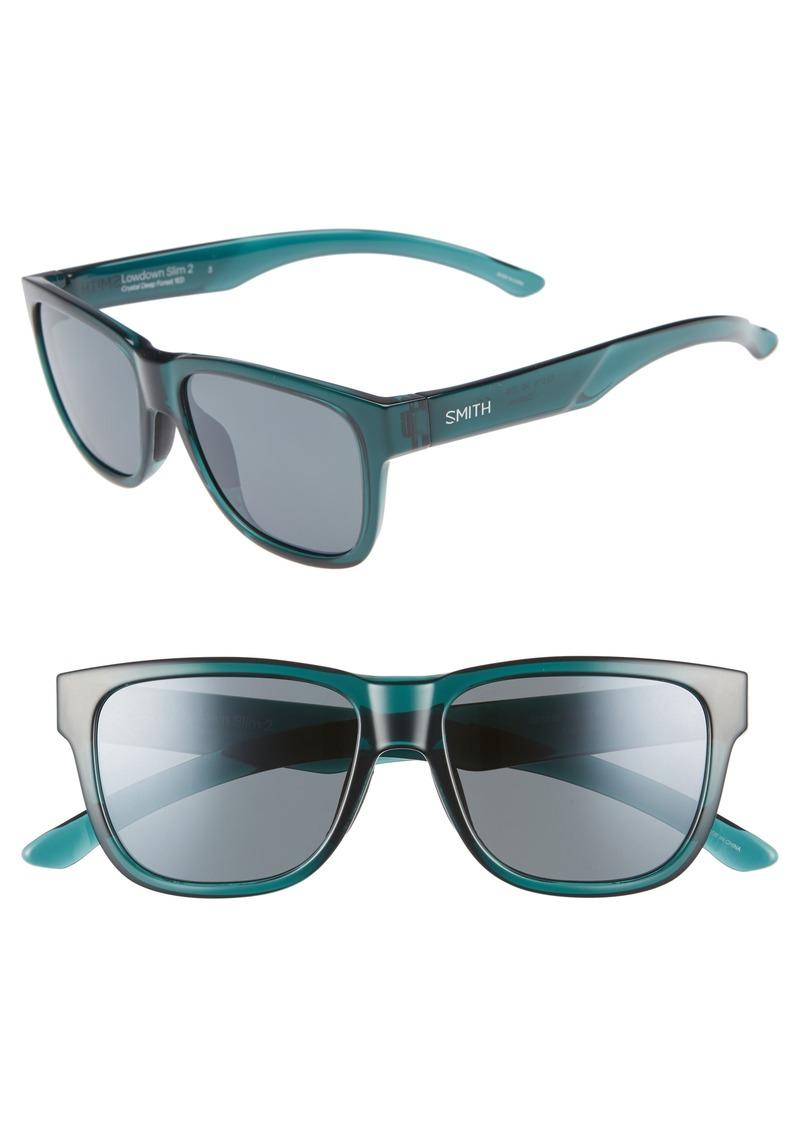 6ef9ba5a014 Smith Lowdown Slim 2 53mm ChromaPop™ Polarized Square Sunglasses