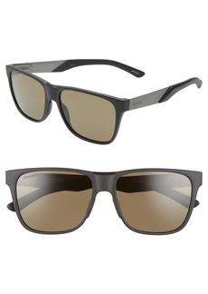 Smith Lowdown Steel 56mm ChromaPop™ Polarized Square Sunglasses