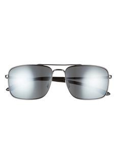 Smith Outcome 59mm Mirrored Aviator Sunglasses