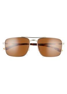 Smith Outcome 59mm Polarized Aviator Sunglasses