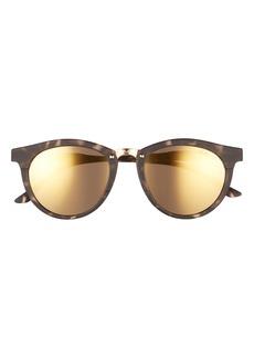 Smith Questa 50mm Mirrored Round Sunglasses