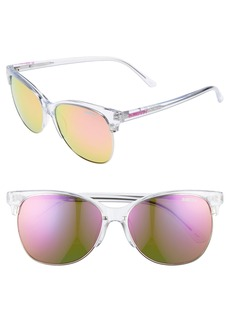 Smith Rebel 57mm Mirrored Lens Cat Eye Sunglasses